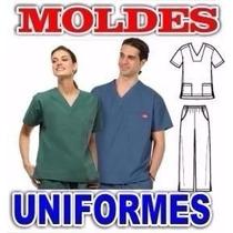 Patrones Moldes Imprimibles Uniformes Medicos Digital