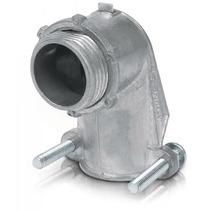 Conector Curvo Tubo Flexible Metalico 1/2 Pulg Voltech 47343