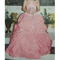 6a555d6a4a Vestido Xv Años Marca N n Color Palo De Rosa Talla 8 en venta en ...