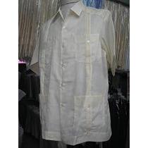 Camisas Guayaberas 100 % Algodón Colores Cuello Normal Y Mao
