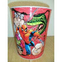 Spiderman Bote De Basura De Lamina