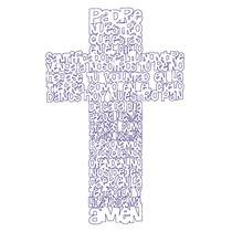 Vectores Padre Nuestro Oración En Cruz Corte Laser & Cnc Mdf