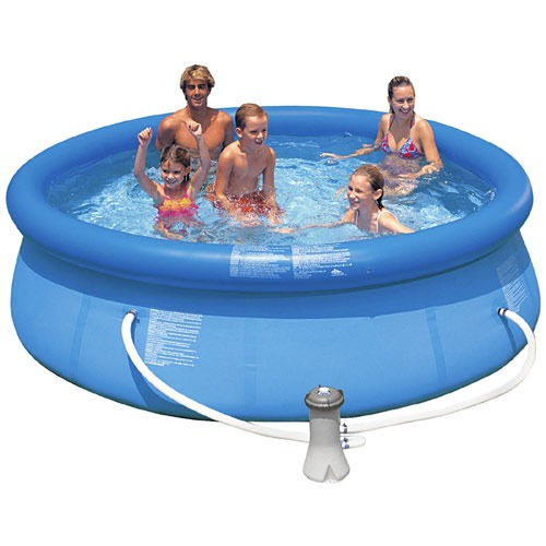 Wow alberca familiar intex x 76cm easy set bomba for Cuanto sale construir una piscina