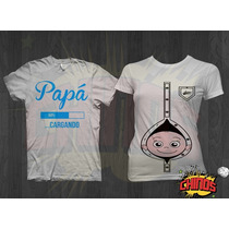 Combo Playeras Embarazo, Baby Shower, Divertidas, Graciosas