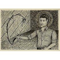 Evalcon Ernesto Valdes Dibujo A Tinta Intento De Autorretrat