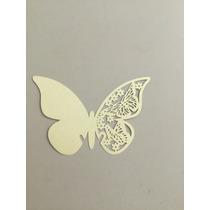 Mariposas De Papel Decoración Copas Amarillo Pastel