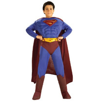 Superman Returns Traje Talla Large 8-10 Años