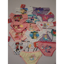Pantaletas Pantie Calzon Niña Princesas 4 6 8 Y 10 Años
