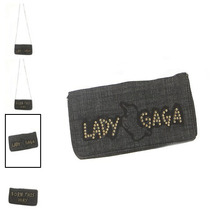 Hot Topic Cartera Bolsa Lady Gaga Denim Purse