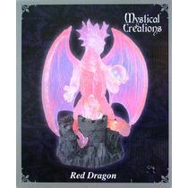 Escultura De Dragon Rojo Con Luz Envio Gratis