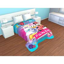 Cobertor Doble Borrego Individual Minnie