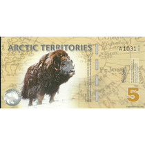 Billete Del Artico 5 Dolares (2012) Yak