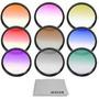 Kit De 9 Filtros De Colores 58mm Para Canon Dslr Nuevos Mn4