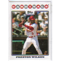 2008 Topps #38 Preston Wilson Cardenales De San Luis