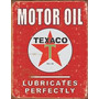Poster Metalico Litografia Texaco Oil Vintage Retro Anuncio