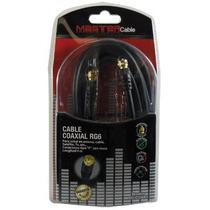 Cable Coaxial En Chapa De Oro 4 Metros Rg6 P/ Antena Tv Mm9