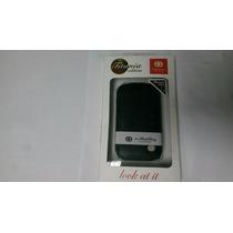 Funda Tipo Piel Color Negro Para Black Berry Curve 8520/9300