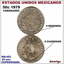 50 Cent 1979 Mo Variedades 9 Cuadrado Y 9 Redondo Eum
