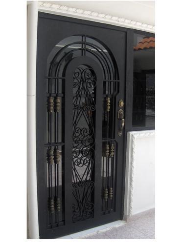 Puerta de herreria rustica fina modelo california otras for Puertas en forma de arco
