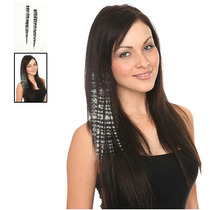 Hot Topic Extensiones De Cabello Platinum Zebra Clip-in Synt