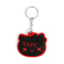 Hot Topic Hello Kitty Llavero Black Oops Key Chain