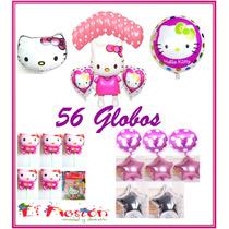 56 Globos Hello Kitty,envío Gratis,fiesta Princesa,adorno.