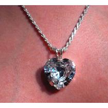 Hermoso Dije Corazón Con Diamante Ruso Envío Gratisdvn