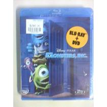 Monsters Inc. ( 2 Blurays + Dvd ) Nuevo Original Lbf