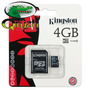 Micro Sd 4gb Sdhc Kingston 5 Años Garantia %100 Original