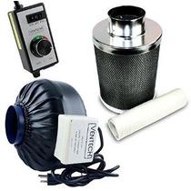 Ventech Vt If4 + Cf4-b Inline Blower Extractor Con Filtro De