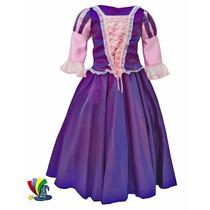 Disfraz Vestido Rapunzel Enredados Modelo Disney