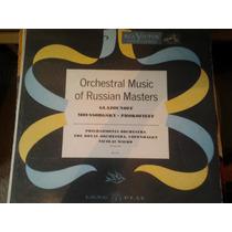 Disco Acetato De Orhestral Music Of Russian Masters Glazouno