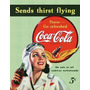 Poster Lamina  Anuncio Coca Cola Vintage Retro Antiguo Carte