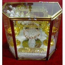 Elegantes, Arras Para Boda Estuche De Cristal Moneda Antigua