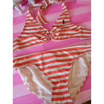 Juicy Couture Bikini Bordado Al Reverso Con Etiquetas Xl Dvn