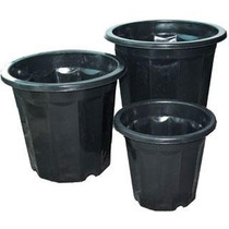 Macetas De Plástico Negro De 7 Qt Hidroponia,viveros,inverna