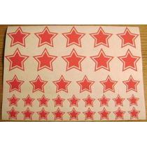 Jgo De 34 Calcomanias De Estrellas