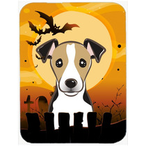 Halloween Jack Russell Terrier De Cristal Tabla De Cortar Gr
