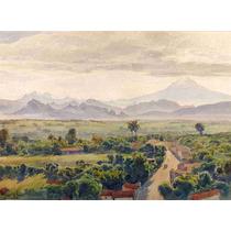 Lienzo Tela Valle De Cuernavaca Henry Otto Wix 50 X 68 Cm