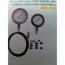 Manometro Medir Presion Alta Baja De Transmision Automatica
