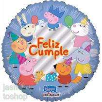5 Globos Metalicos Peppa Pig La Cerdita,18 Pulgadas Fiesta