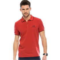 Playera Polo Armani Exchange Ax Talla M Color Roja