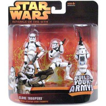 Star Wars Revenge Of The Sith Clone Troopers Set De 3