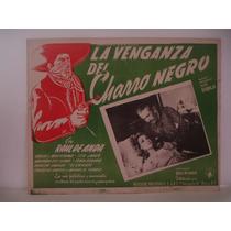 Tito Junco, La Venganza Del Charro Negro , Cartel De Cine