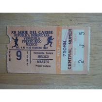 Boleto Serie Del Caribe Hermosillo 1982