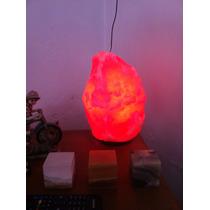 Lámpara Origina Tibetana De Sal Rosada Del Himalaya