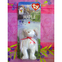 Ty Beanie Babie Peluche De Osito Blanco Maple Mc Donalds