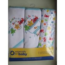 Set 3 Toallas Especial Para Bebes Con Capucha Hermosas Vv9