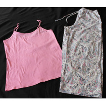 Liquidacion Tommy No Boundaries Set Pijama Dama Rosa Talla L