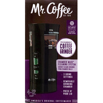 Mr Coffee Molino Electrico De Cafe Con Sistema De Limpieza